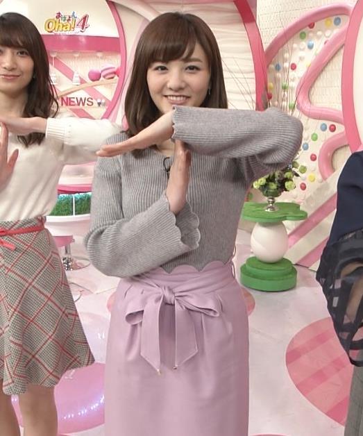 小菅晴香アナ oha4キャスターのニットおっぱいキャプ・エロ画像4