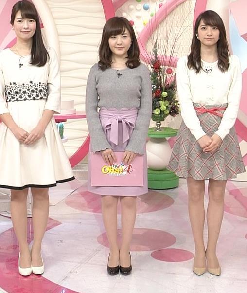 小菅晴香アナ oha4キャスターのニットおっぱいキャプ・エロ画像5