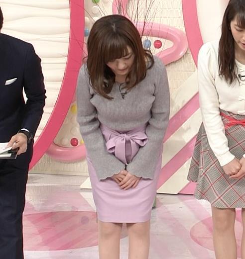 小菅晴香アナ oha4キャスターのニットおっぱいキャプ・エロ画像7