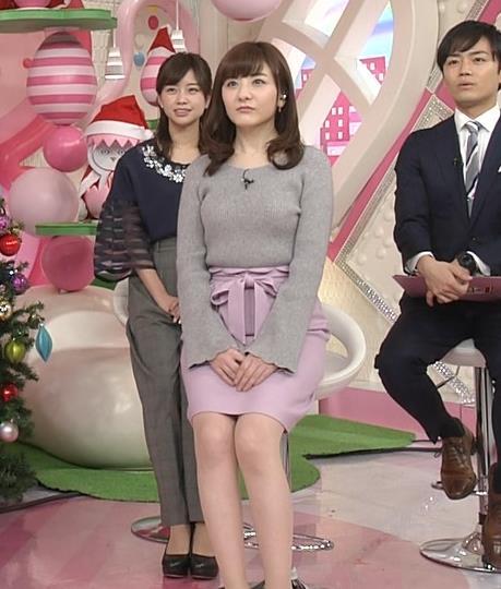 小菅晴香アナ oha4キャスターのニットおっぱいキャプ・エロ画像8