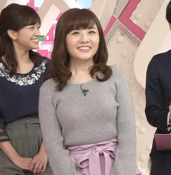 小菅晴香アナ oha4キャスターのニットおっぱいキャプ・エロ画像9