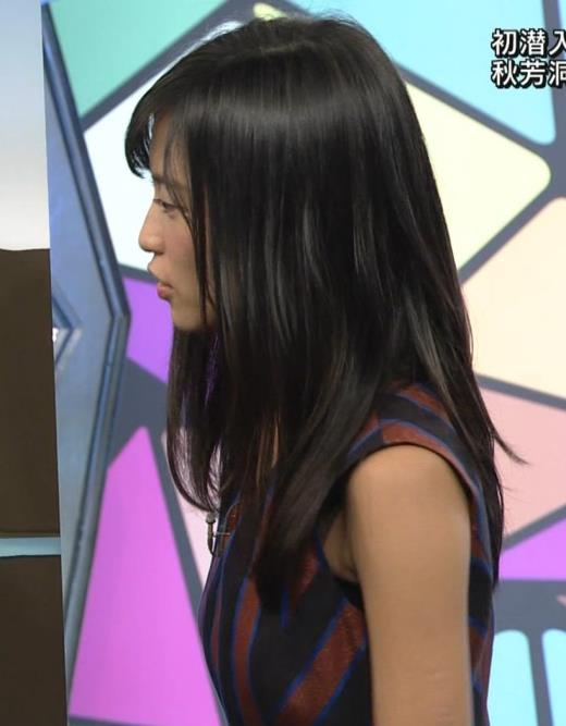 小島瑠璃子 ノースリーブ横乳キャプ画像(エロ・アイコラ画像)