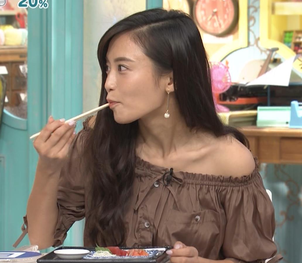 小島瑠璃子 肩出し衣装キャプ・エロ画像8