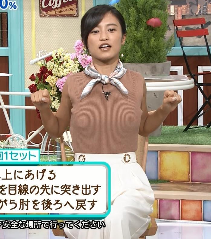 小島瑠璃子 裸に見えるような色のノースリーブで激しくおっぱいをアピールキャプ・エロ画像13