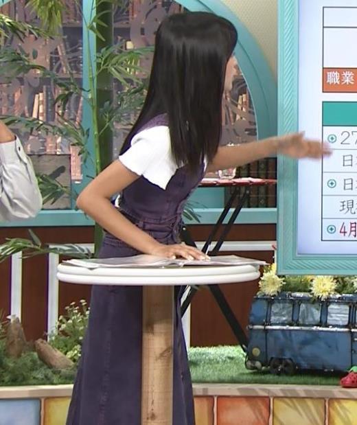 小島瑠璃子 横から見るとかなり細そうキャプ画像(エロ・アイコラ画像)