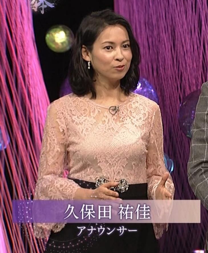 久保田祐佳アナ 横から見た巨乳がエロ過ぎキャプ・エロ画像2