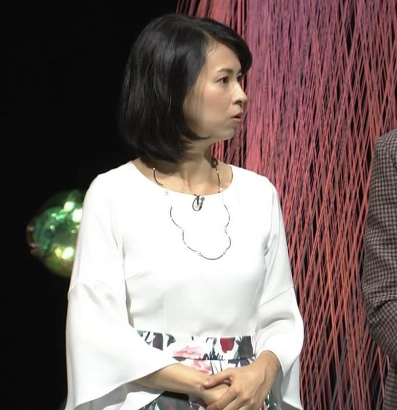 久保田祐佳アナ かなり巨乳が目立っていたキャプ・エロ画像9
