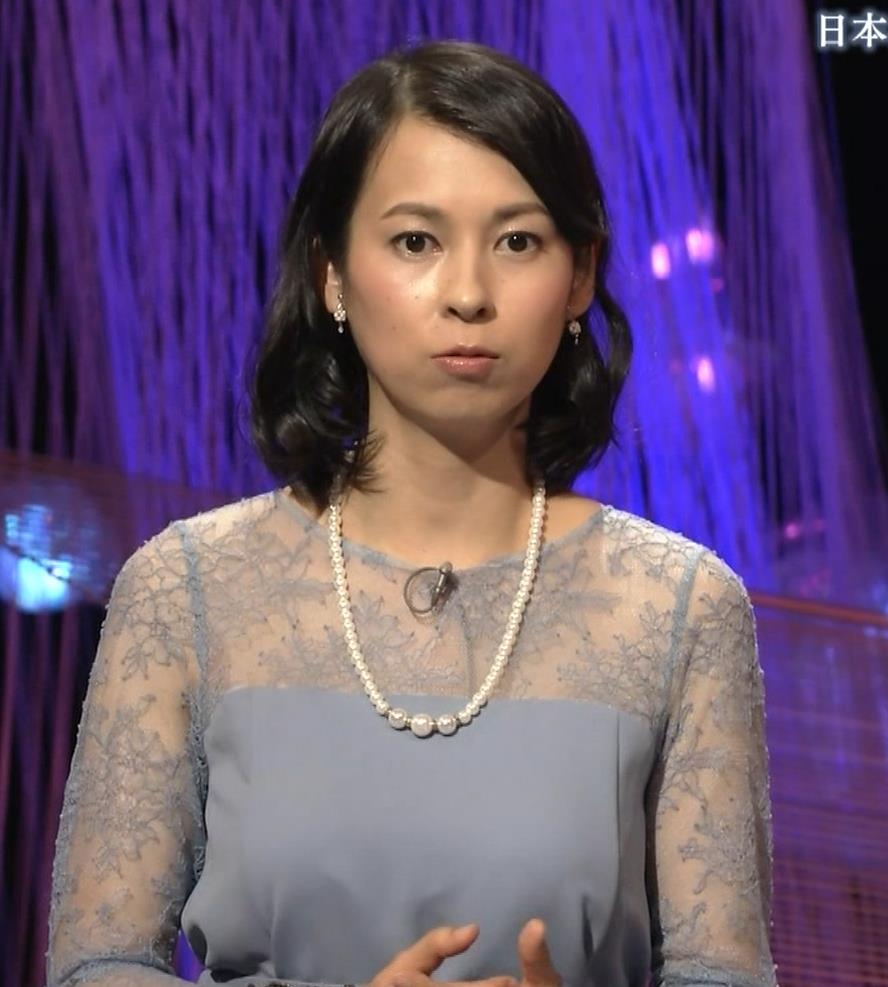 久保田祐佳アナ 巨乳でパンパンになった乳袋キャプ・エロ画像12