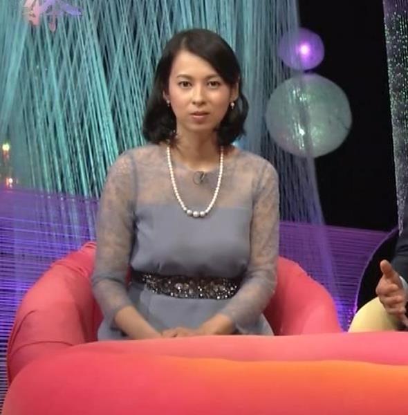 久保田祐佳アナ 巨乳でパンパンになった乳袋キャプ・エロ画像13