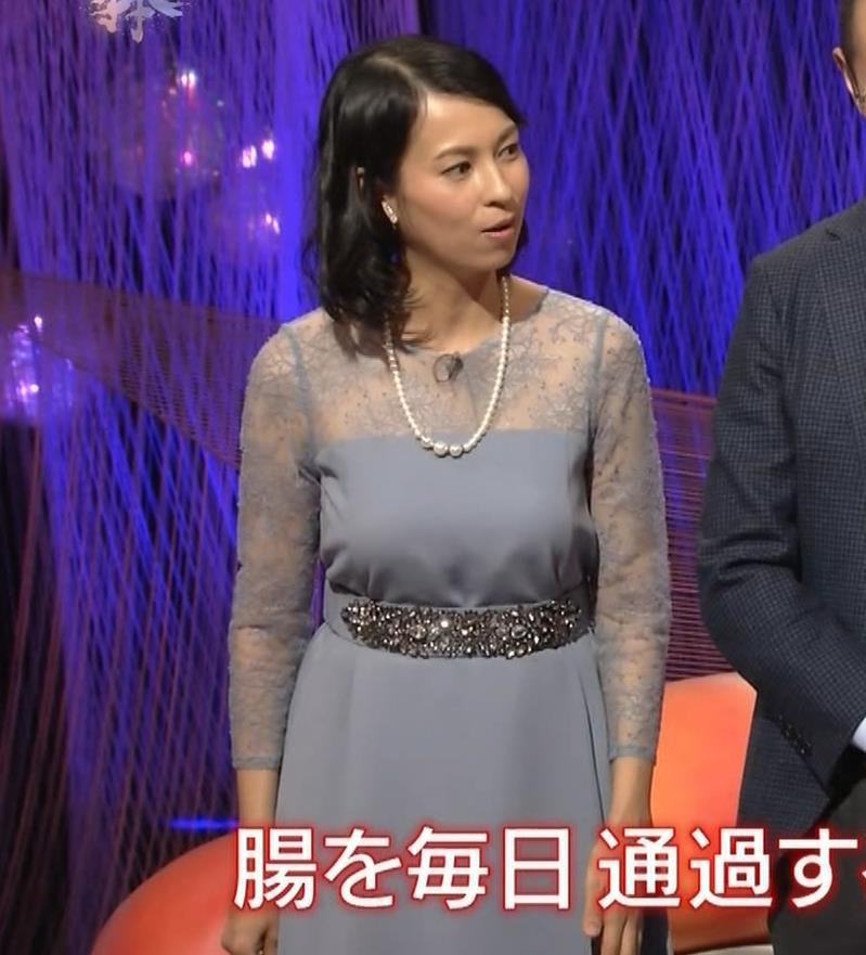 久保田祐佳アナ 巨乳でパンパンになった乳袋キャプ・エロ画像7