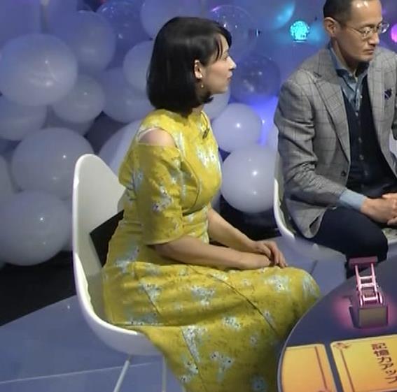 久保田祐佳アナ おっぱいがパツパツの衣装キャプ・エロ画像3