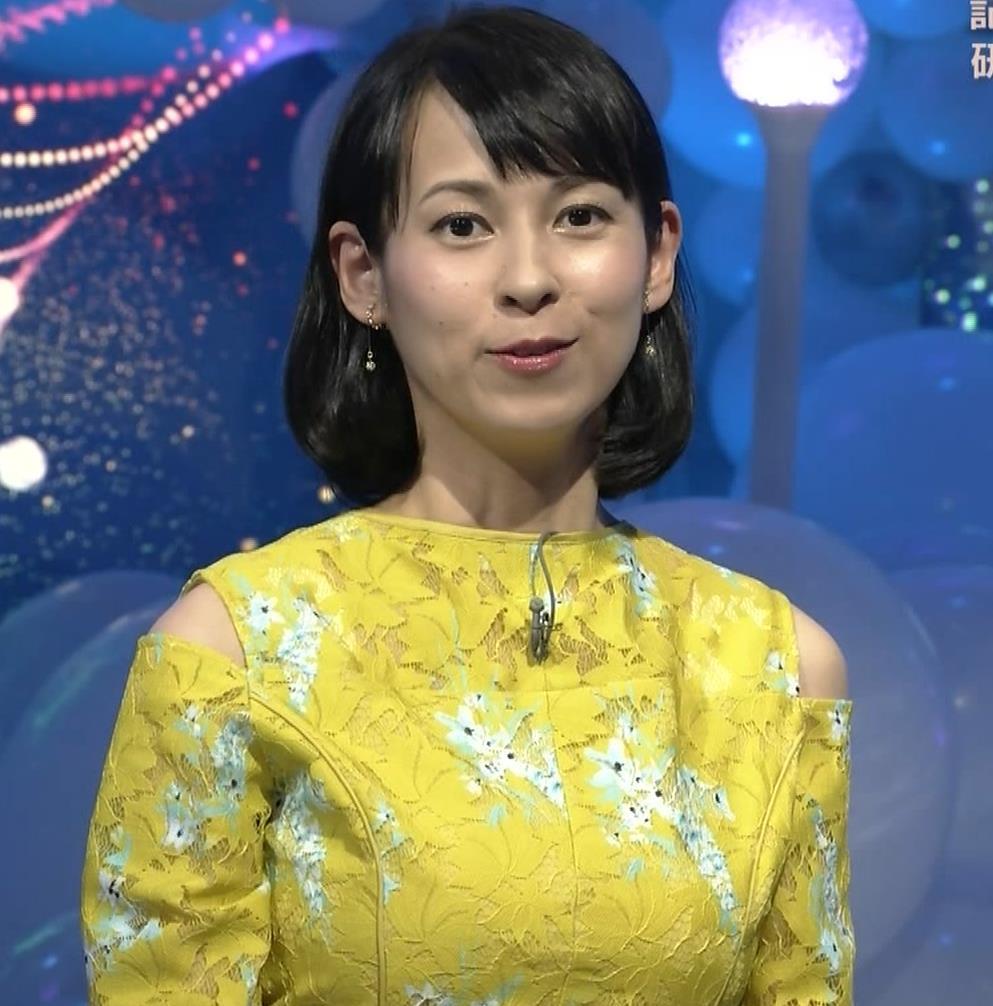 久保田祐佳アナ おっぱいがパツパツの衣装キャプ・エロ画像4