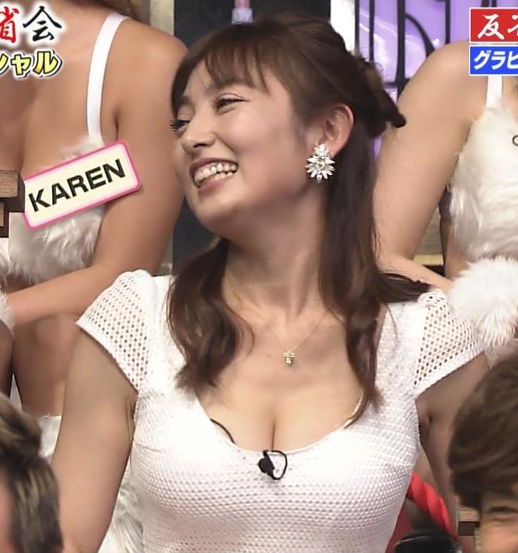 熊田曜子 見せ乳キャプ・エロ画像5