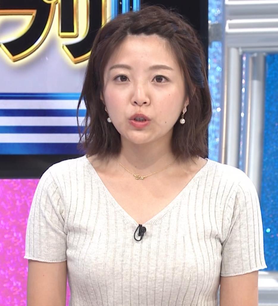 黒木千晶アナ ニットおっぱいキャプ・エロ画像8