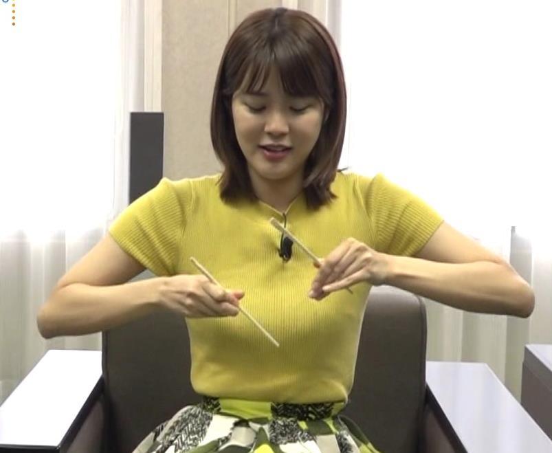 久代萌美アナ ニットおっぱいキャプ・エロ画像3