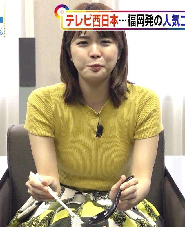 久代萌美アナ ニットおっぱいキャプ・エロ画像8