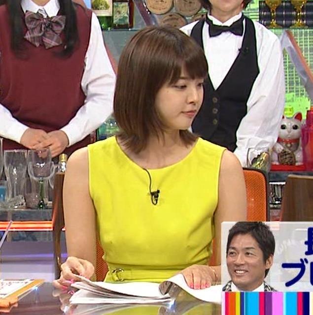 久代萌美アナ 健康的なノースリーブキャプ・エロ画像3