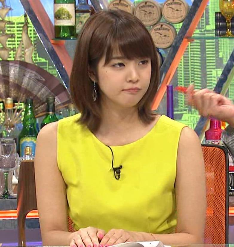 久代萌美アナ 健康的なノースリーブキャプ・エロ画像9
