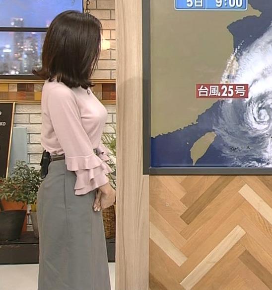 桑子真帆アナ 乳がデカくて尖ってる!キャプ・エロ画像