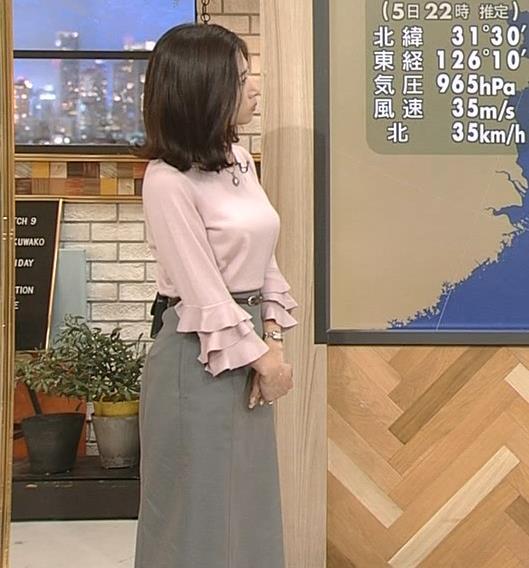 桑子真帆アナ 乳がデカくて尖ってる!キャプ・エロ画像3