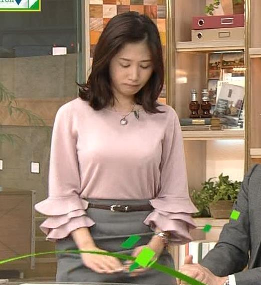 桑子真帆アナ 乳がデカくて尖ってる!キャプ・エロ画像4