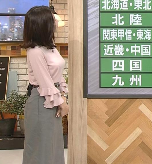 桑子真帆アナ 乳がデカくて尖ってる!キャプ・エロ画像8