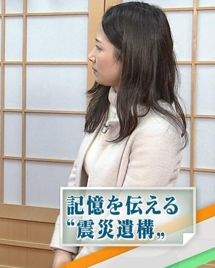 桑子真帆アナ ジャケットの下のニット巨乳キャプ・エロ画像12
