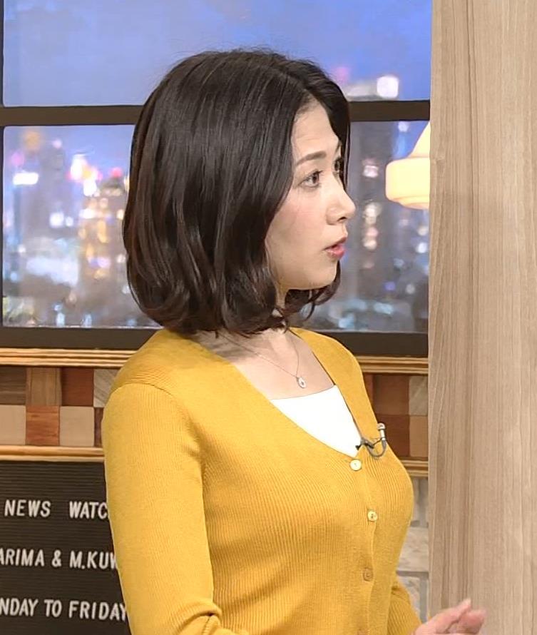 桑子真帆アナ 飛び出だ横乳がエロ過ぎだキャプ・エロ画像