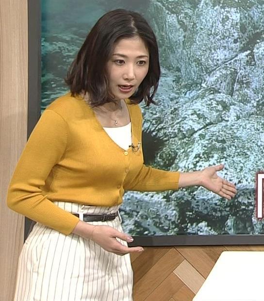 桑子真帆アナ 飛び出だ横乳がエロ過ぎだキャプ・エロ画像4