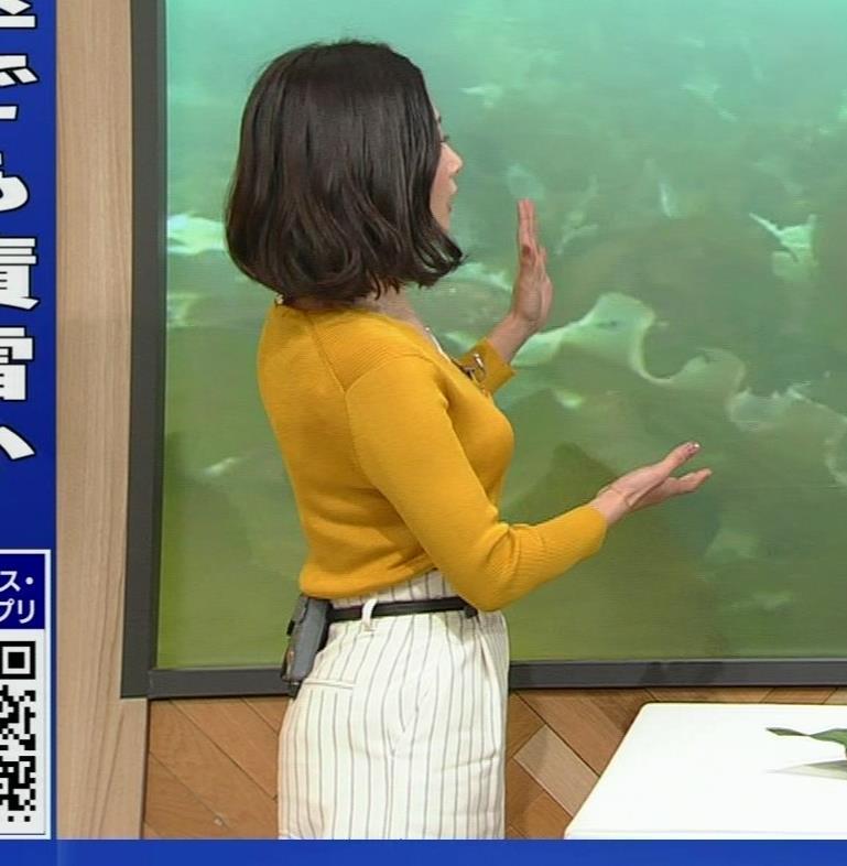 桑子真帆アナ 飛び出だ横乳がエロ過ぎだキャプ・エロ画像6
