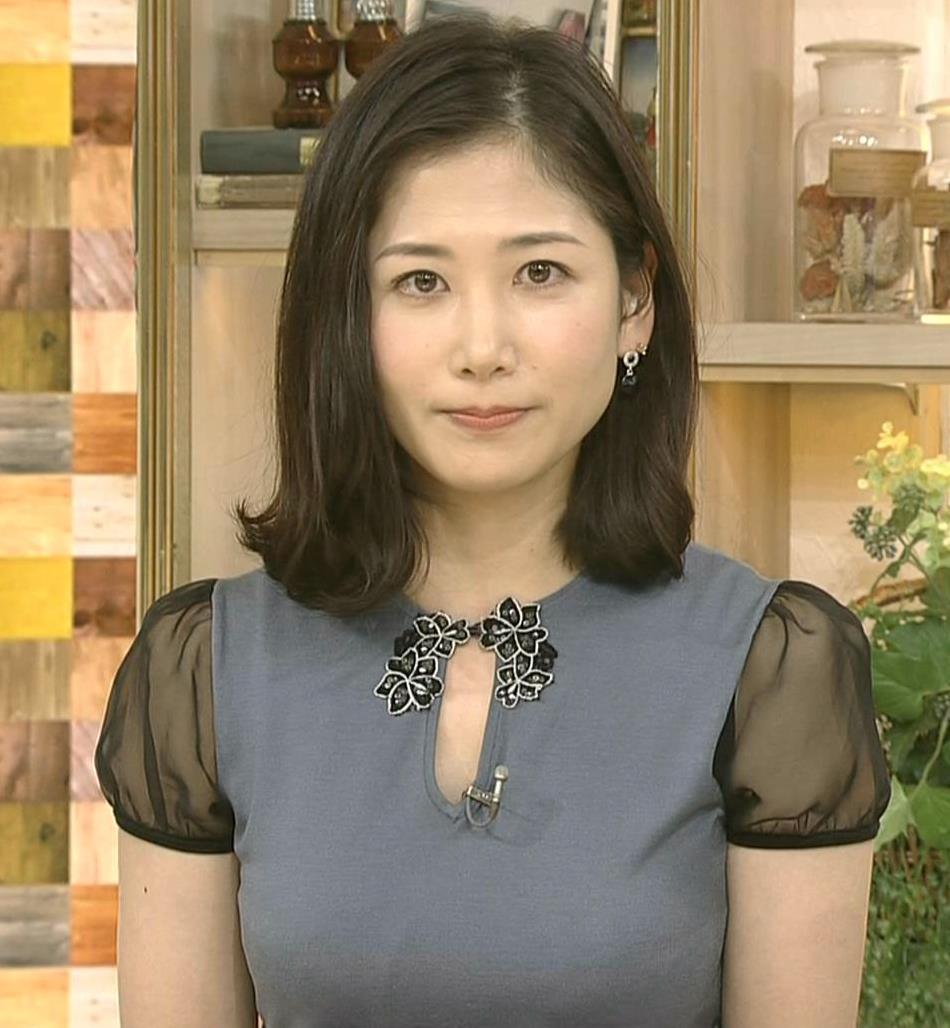 桑子真帆アナ 飛び出したロケットおっぱいキャプ・エロ画像