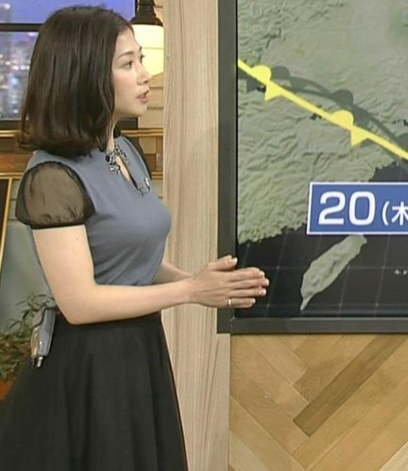 桑子真帆アナ 飛び出したロケットおっぱいキャプ・エロ画像4