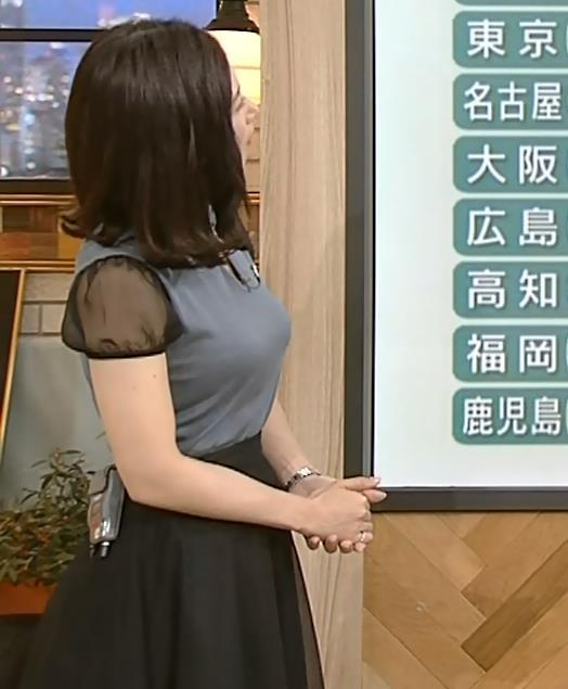 桑子真帆アナ 飛び出したロケットおっぱいキャプ・エロ画像7