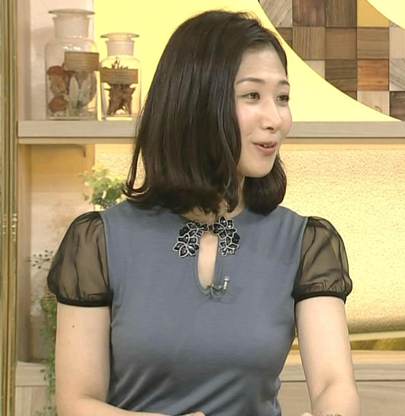 桑子真帆アナ 飛び出したロケットおっぱいキャプ・エロ画像8