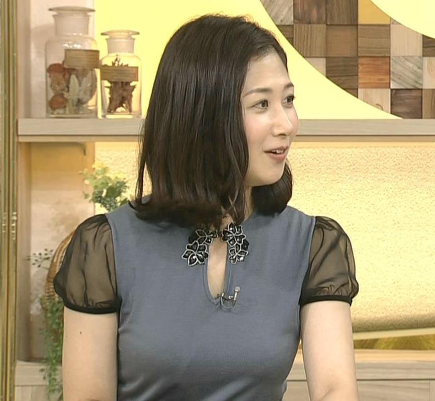 桑子真帆アナ 飛び出したロケットおっぱいキャプ・エロ画像9