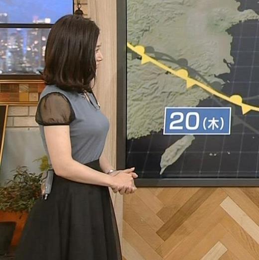 桑子真帆アナ 飛び出したロケットおっぱいキャプ画像(エロ・アイコラ画像)