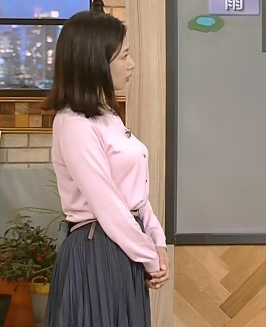 桑子真帆アナ さらに乳がでかくなってない??キャプ・エロ画像3