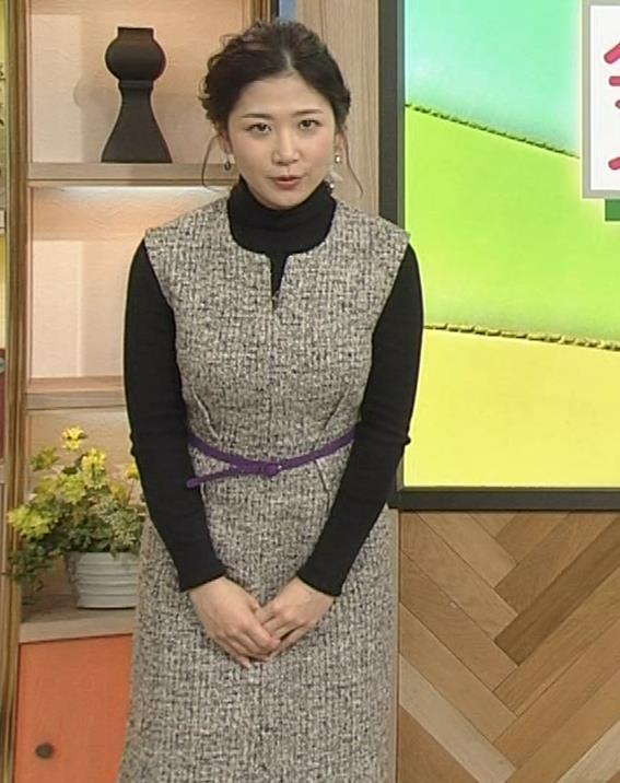 桑子真帆アナ 厚着でも胸の大きさがわかるキャプ・エロ画像11
