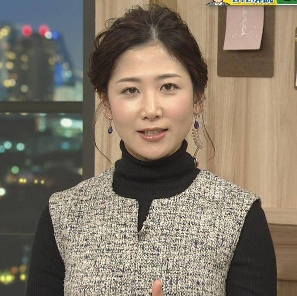 桑子真帆アナ 厚着でも胸の大きさがわかるキャプ・エロ画像5
