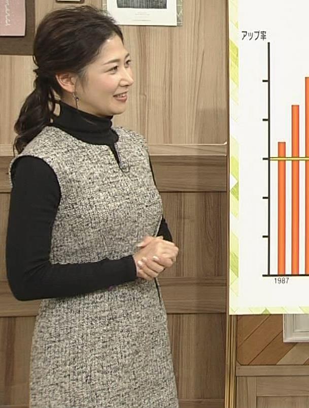 桑子真帆アナ 厚着でも胸の大きさがわかるキャプ・エロ画像8