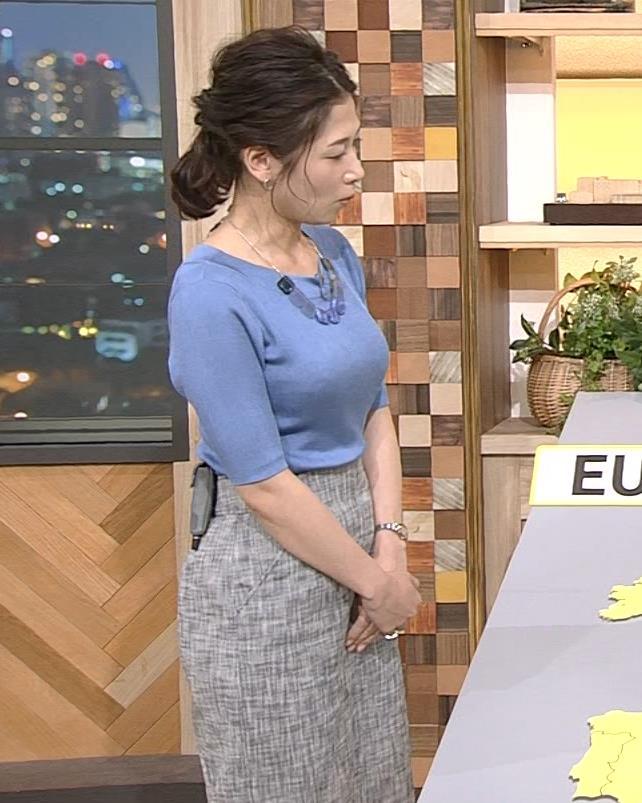 桑子真帆アナ 横から見るとやはりデカいキャプ・エロ画像5