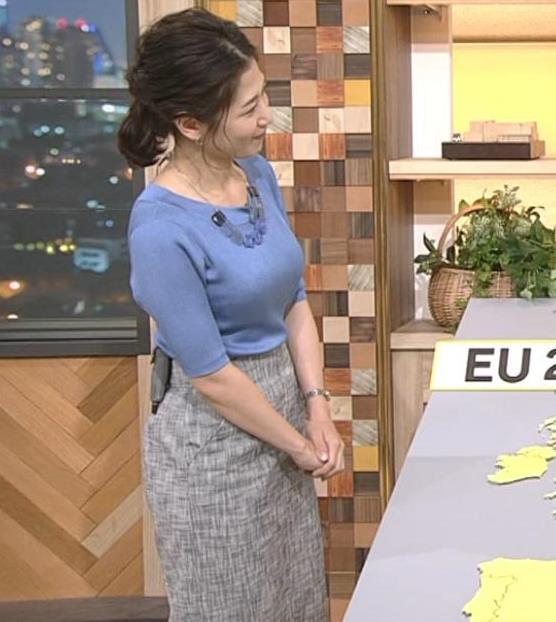 桑子真帆アナ 横から見るとやはりデカいキャプ・エロ画像6