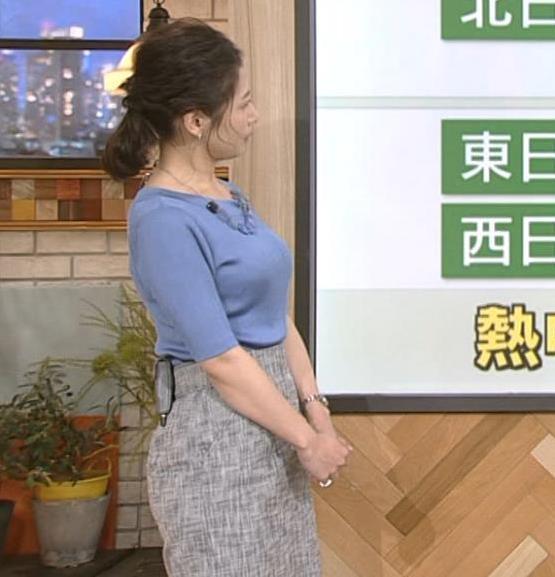 桑子真帆アナ 横から見るとやはりデカいキャプ・エロ画像7