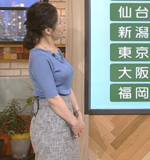 桑子真帆アナ 横から見るとやはりデカいキャプ・エロ画像8