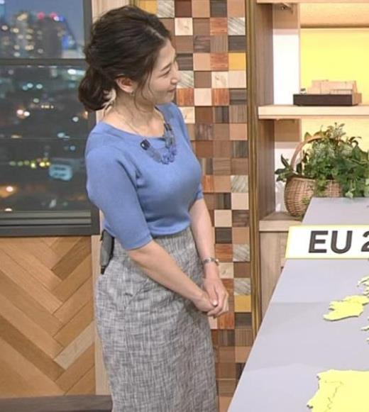 桑子真帆アナ 横から見るとやはりデカいキャプ画像(エロ・アイコラ画像)