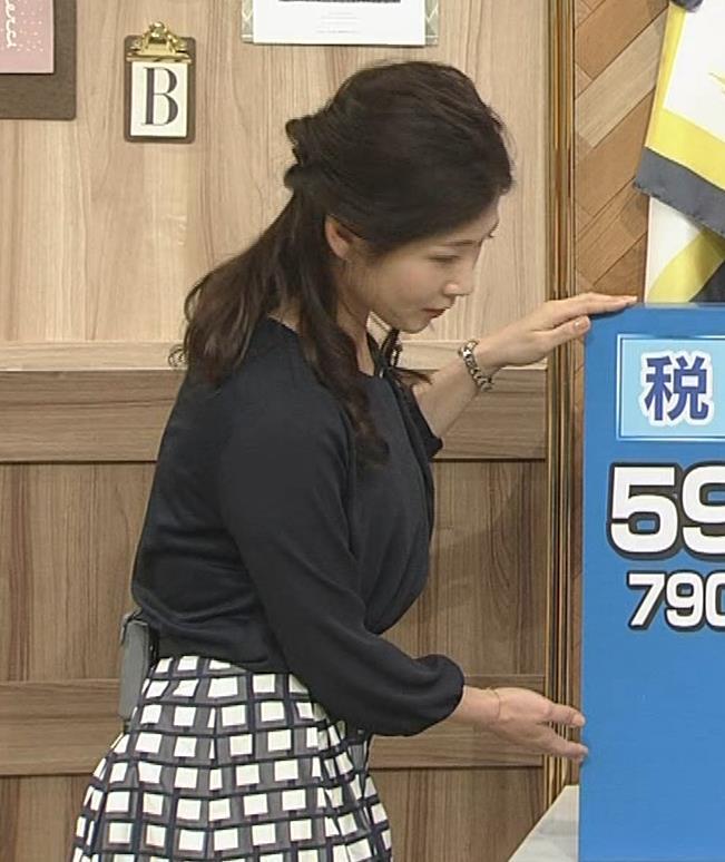 桑子真帆アナ 黒い服でも巨乳だとわかる横乳キャプ・エロ画像5