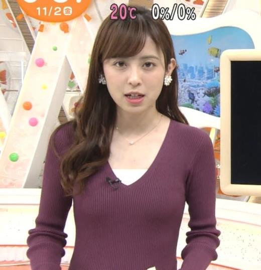 久慈暁子 おっぱいがエロ過ぎるニットのワンピキャプ画像(エロ・アイコラ画像)