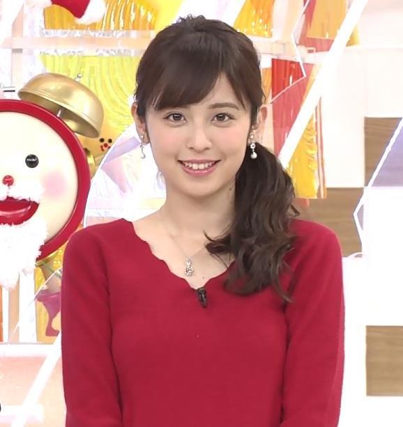久慈暁子アナ Vネックのニット乳。キャプ・エロ画像5