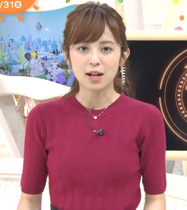 久慈暁子アナ ニット乳キャプ・エロ画像5
