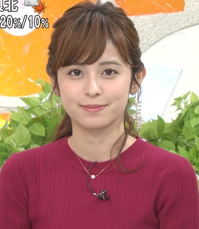 久慈暁子アナ ニット乳キャプ・エロ画像10